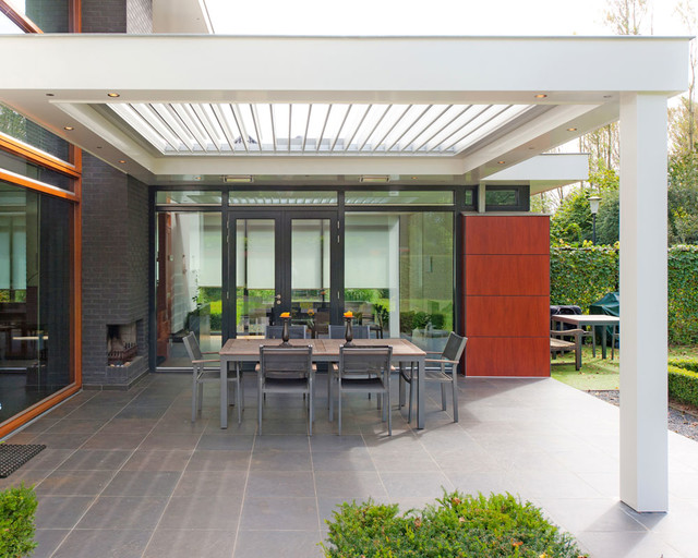 Opening Louvre Roofs Contemporary Patio Sydney By Vanguard Blinds