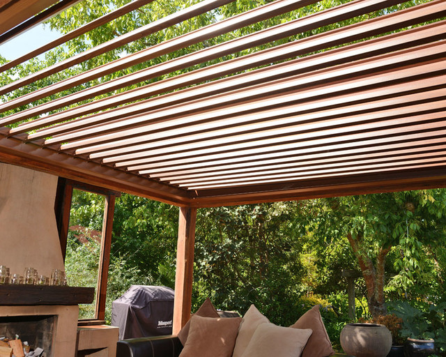 Opening Louvre Roofs Contemporary Patio Other Metro By Vanguard Blinds Sydney