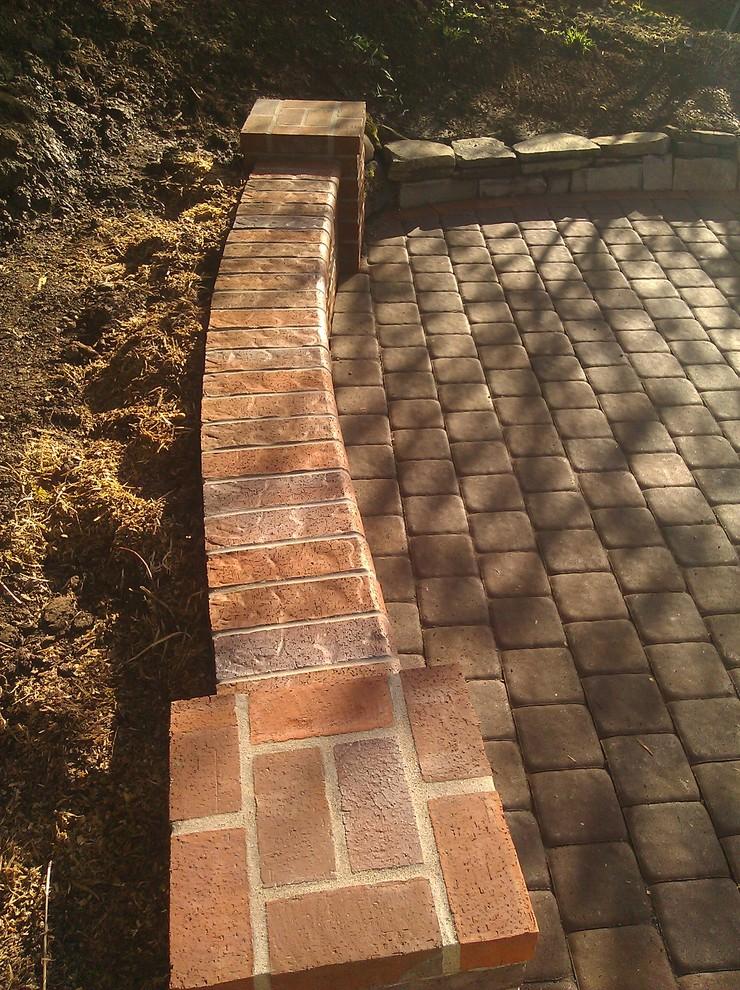 Oregon City Pavers Curved  Brick seat wall