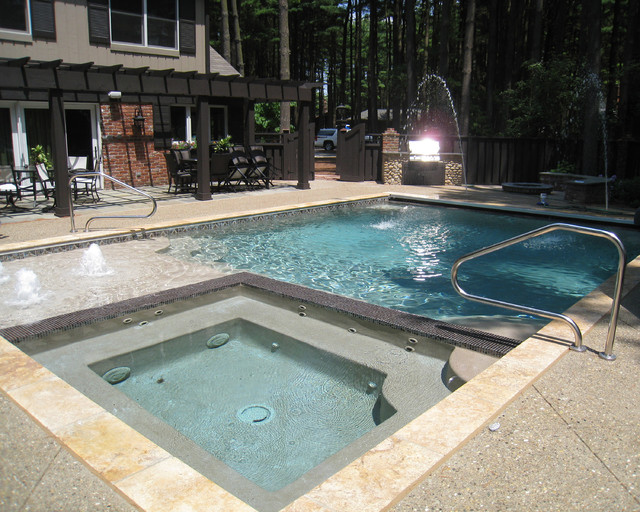 Etonnant Outdoor Backyard Pool Area Modern Patio   The Tennis Players Private  Property Includes This Large Outdoor
