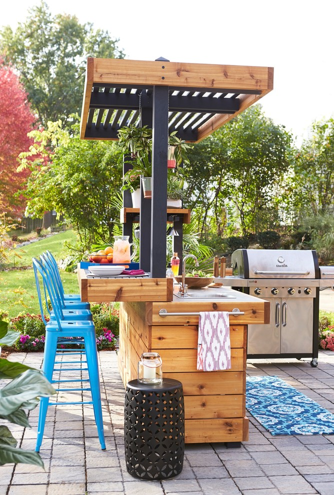 Outdoor Bar And Grill Contemporary, Patio Bar Designs Pictures