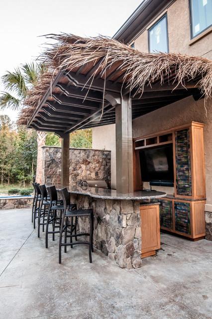 Outdoor Bar And Kitchen Tiki Theme