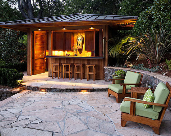 Tiki Bar Home Design Ideas, Pictures, Remodel and Decor
