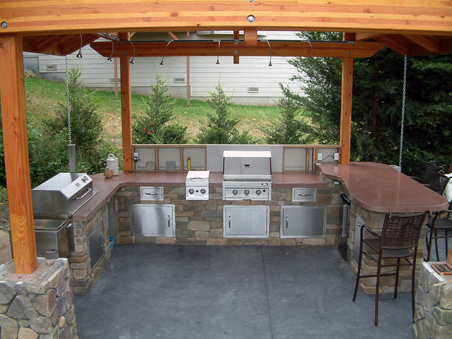 Outdoor Bbq Contemporary Patio Seattle By Native