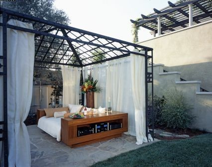 Outdoor Bedroom eclectic patio