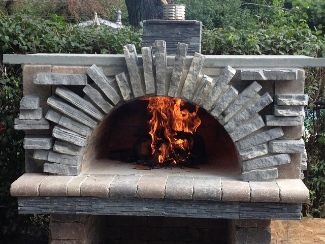 Outdoor Brick Pizza Oven Rustic Patio Chicago By