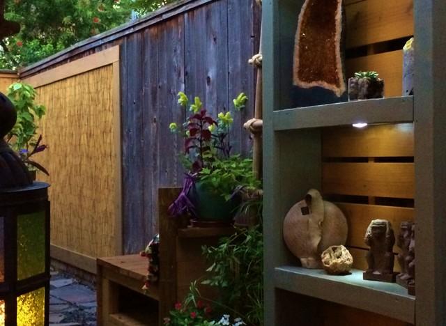 Outdoor Built In Shelving Unit Patio