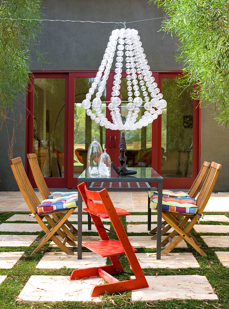Inspiration for a contemporary patio remodel in Los Angeles with no cover