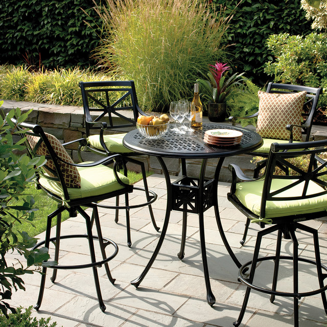 Outdoor Dining Metal Pub Table Traditional Patio Seattle By Thos Baker