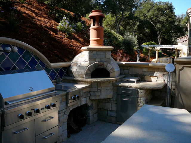 Outdoor Dome Roof Wood Fired Pizza Ovens Eclectic