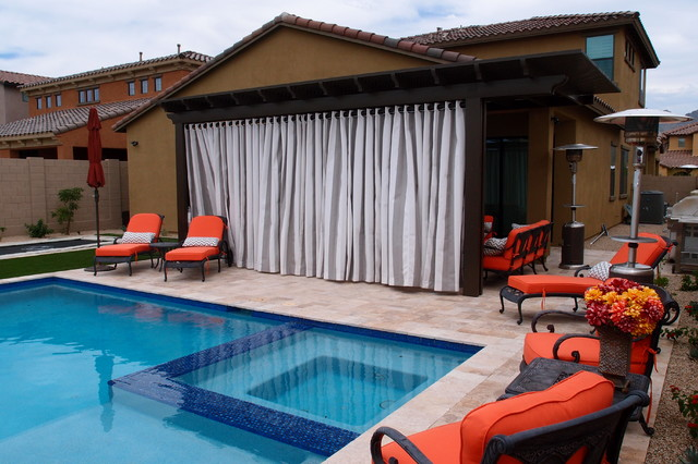 Outdoor Drapery North Scottsdale Modern Patio phoenix by Decor Team