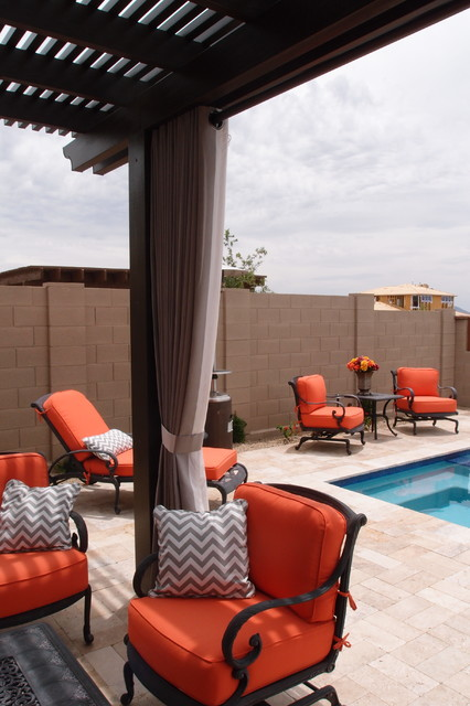 Outdoor Drapery North Scottsdale Modern Patio