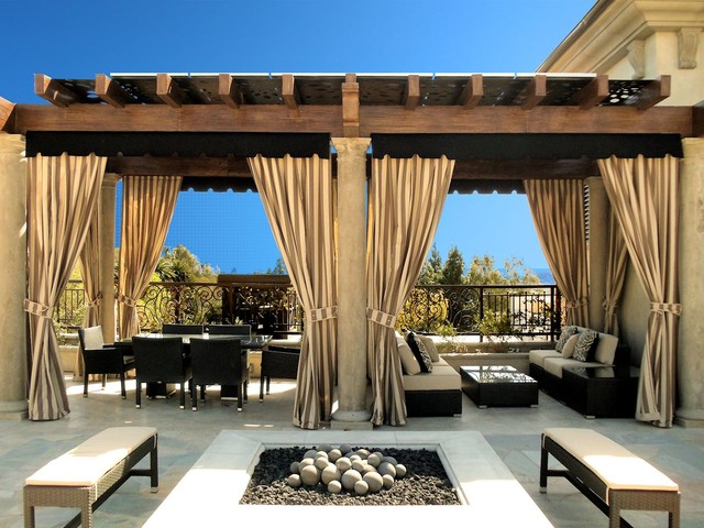 Outdoor D Mediterranean Patio
