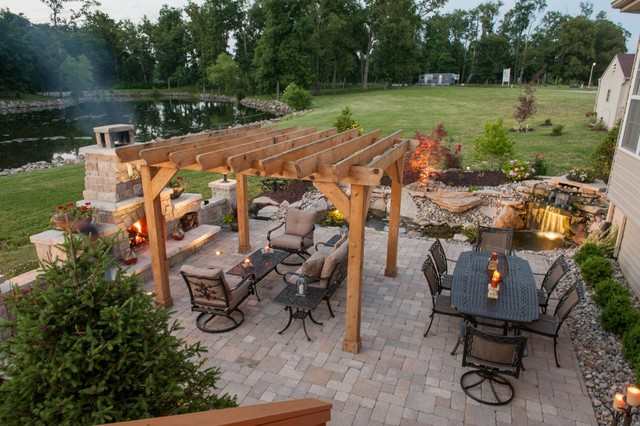 Outdoor Fire Places - Traditional - Patio - other metro ...