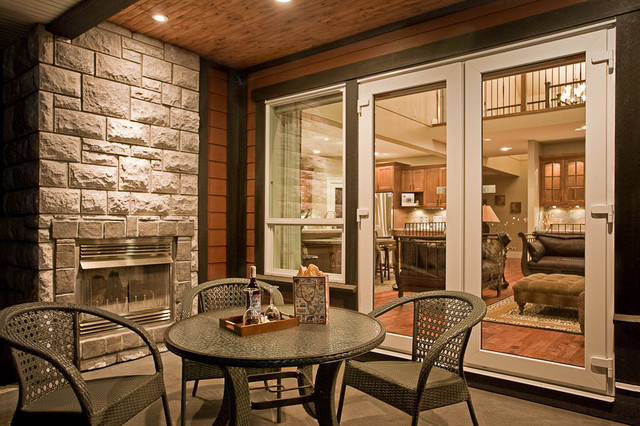 Lot 77 back deck traditional-patio