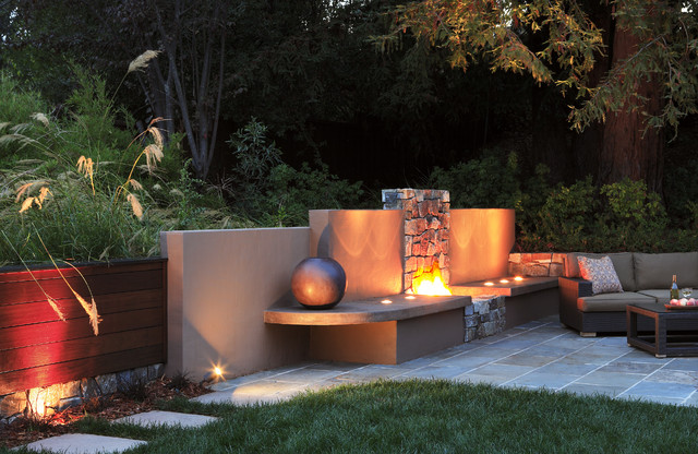 Outdoor Fireplace contemporary-patio