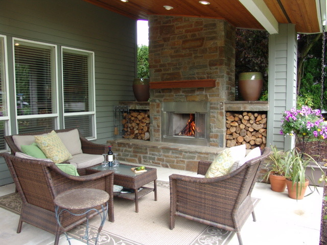 outdoor fireplace bull mountain traditional patio portland by brown bros masonry. Black Bedroom Furniture Sets. Home Design Ideas