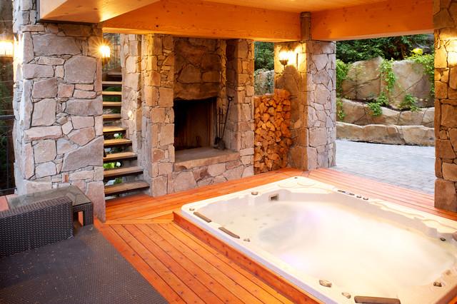 Outdoor Fireplace contemporary-patio