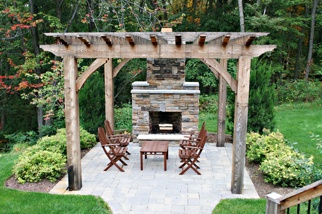 outdoor fireplace traditional patio other metro by