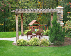 Outdoor Fireplace traditional landscape