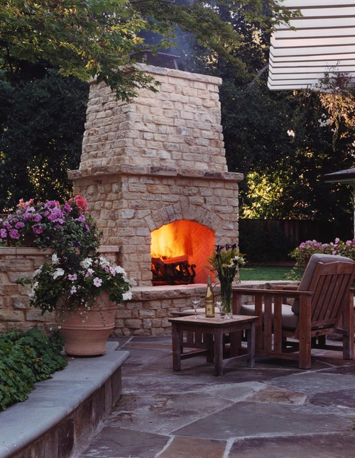 Backyard Fireplace Images : Inspiring Home Fireplace Designs  Fireplace Spot Blog