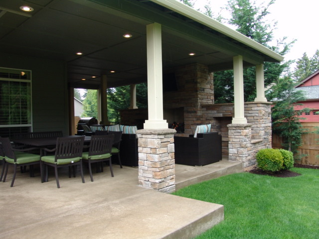 Outdoor Fireplace Tigard Traditional Patio Portland