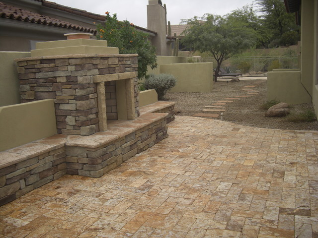 Outdoor Fireplaces Southwestern Patio Phoenix By
