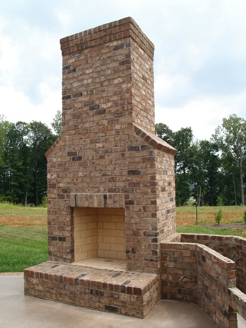 outdoor fireplaces traditional patio other metro