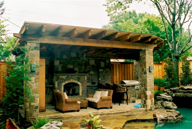 Outdoor Fireplaces eclectic-patio
