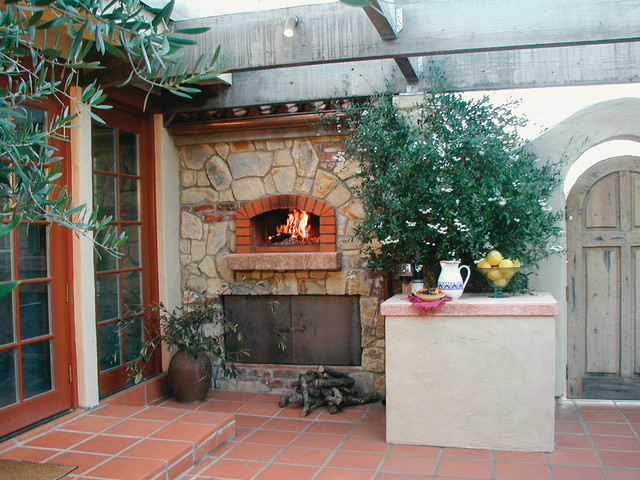 Outdoor Flat Roof Wood Fired Pizza Ovens Mediterranean