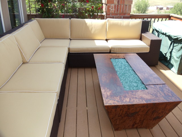 Outdoor Gas Fire Pit contemporary-patio