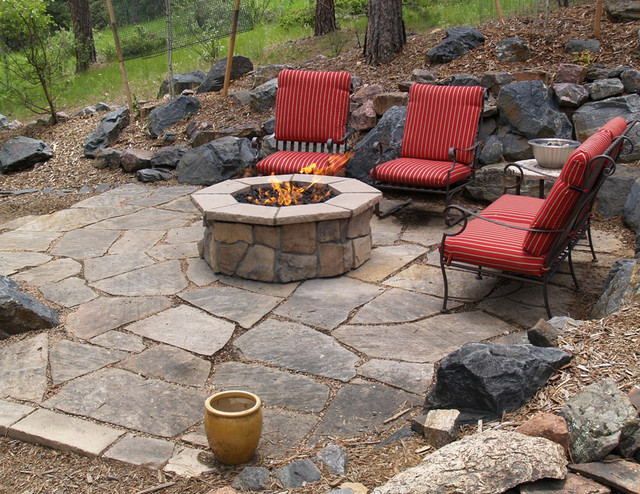 outdoor gas fire pit traditional patio