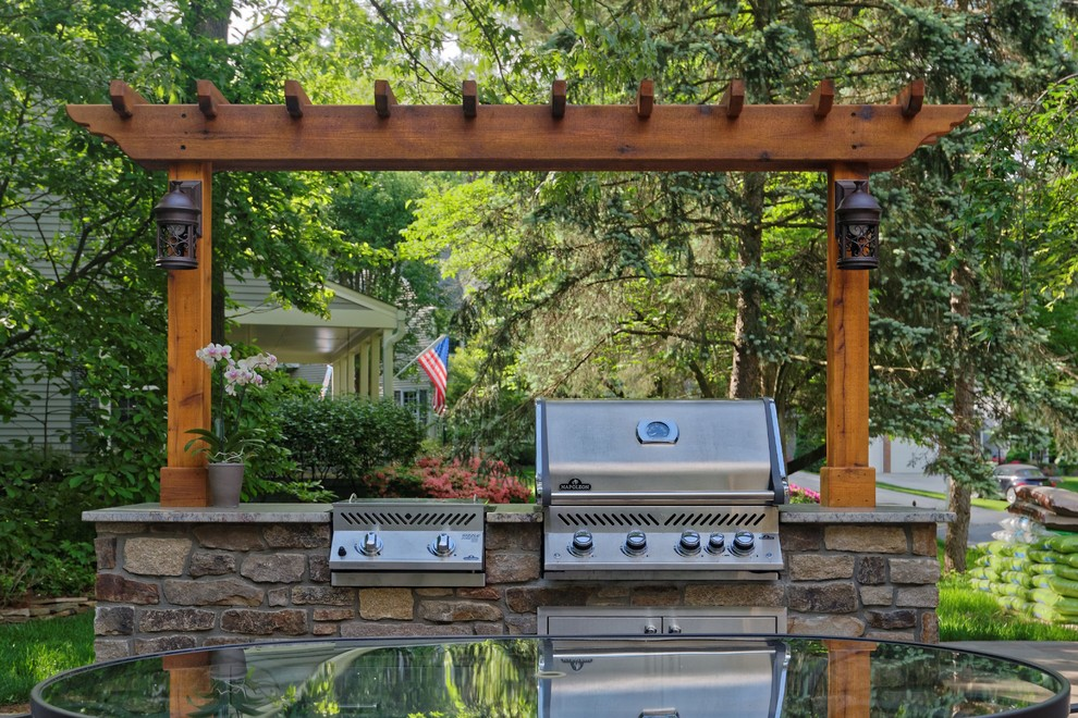 Outdoor grill station, patio and gazebo - Rustic - Patio ... on Patio Grill Station id=38755