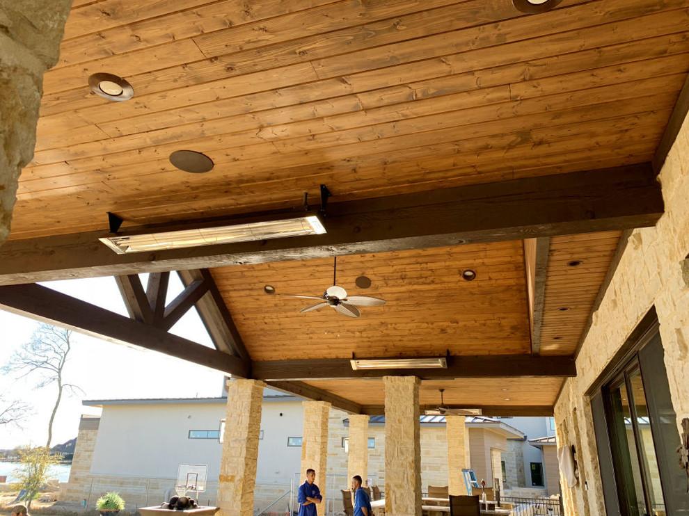 Outdoor Heaters Patio Heater Installations Traditional Patio Dallas By Dallas Landscape Lighting