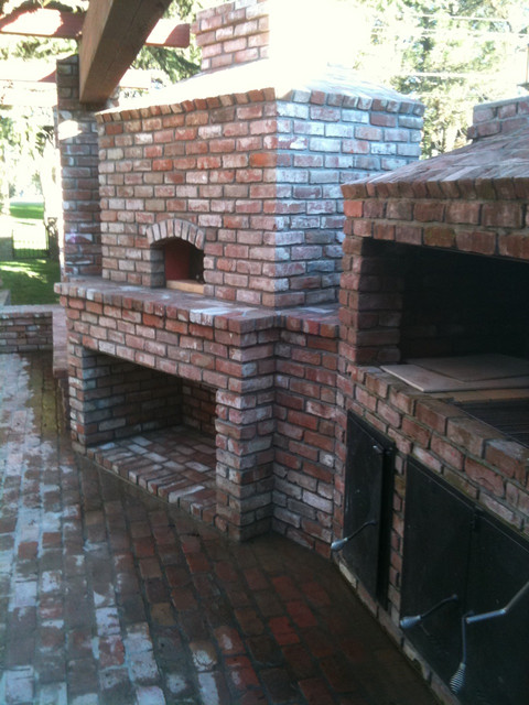 Outdoor Hip Roof Wood Fired Pizza Ovens Mediterranean