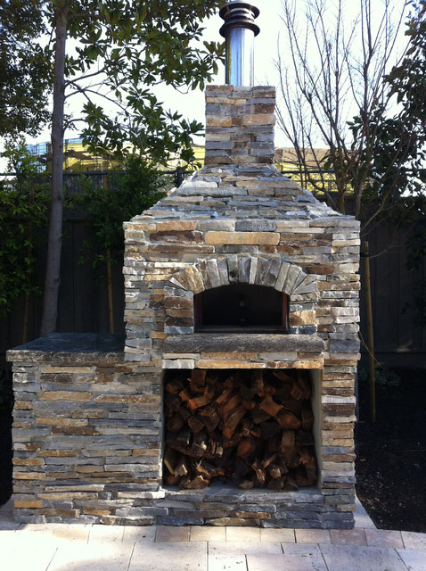 Outdoor Hip Roof Wood Fired Pizza Ovens - Traditional ...