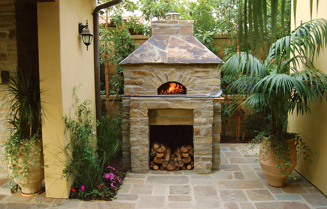 Outdoor Hip Roof Wood Fired Pizza Ovens - Mediterranean ... on Outdoor Patio With Pizza Oven id=88479