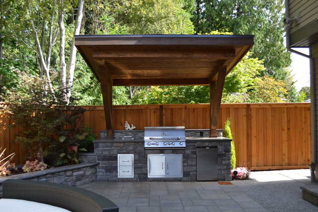 Outdoor kitchen traditional patio portland by all for Traditional outdoor kitchen designs