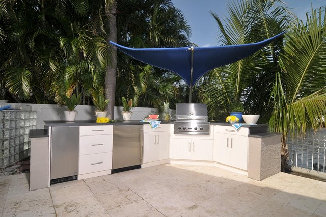 outdoor kitchen patio miami by allied kitchen and bath