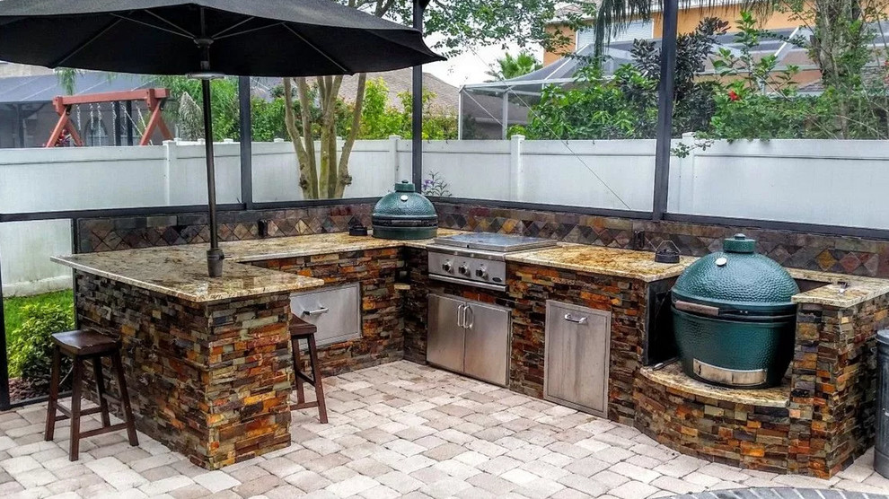 Outdoor Kitchen & BBQ Island - Transitional - Patio - by ...