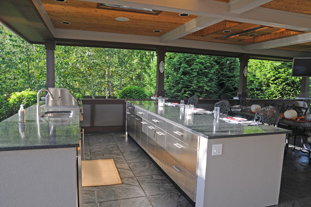 Outdoor Kitchen & Covered Patio on Outdoor Kitchen With Covered Patio id=64227