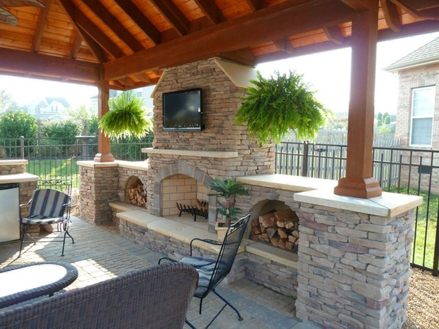 Outdoor Kitchen & Living - Traditional - Patio - Other - by Wildwood ...