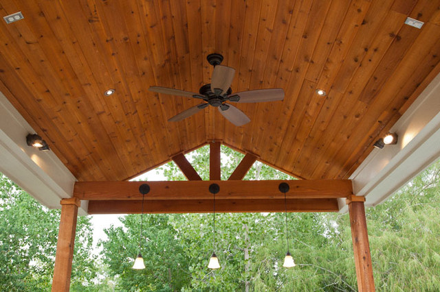 outdoor kitchen and patio cover in katy tx traditional patio - Outdoor Covered Patio Lighting Ideas