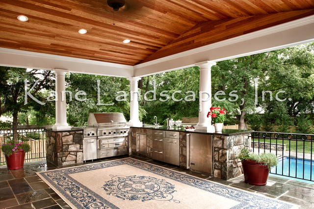 outdoor kitchen and pavilion - contemporary - patio - dc metro