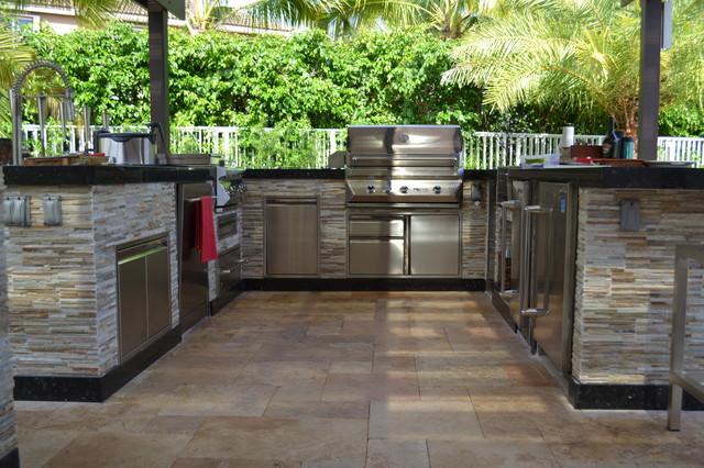 outdoor kitchen and pergola project mediterranean