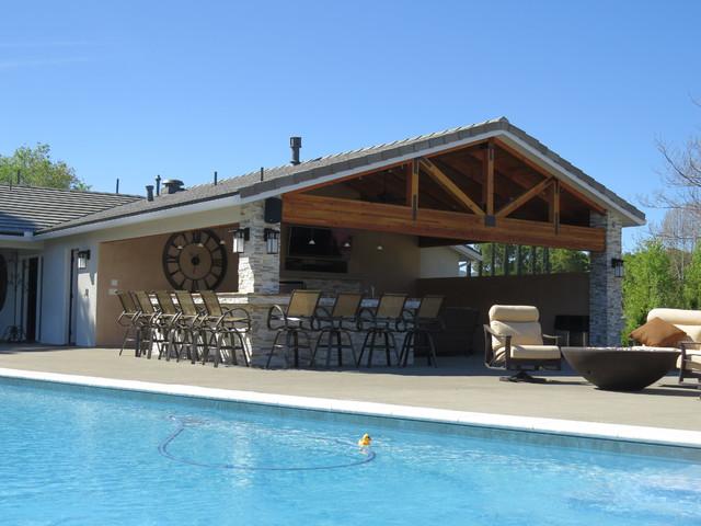 Outdoor Kitchen And Pool Atascadero Ca Craftsman