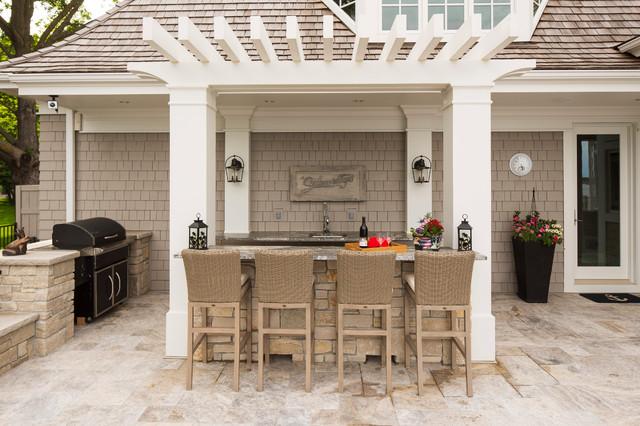 Outdoor Kitchen/Bar - Craftsman - Patio - Minneapolis - by ...