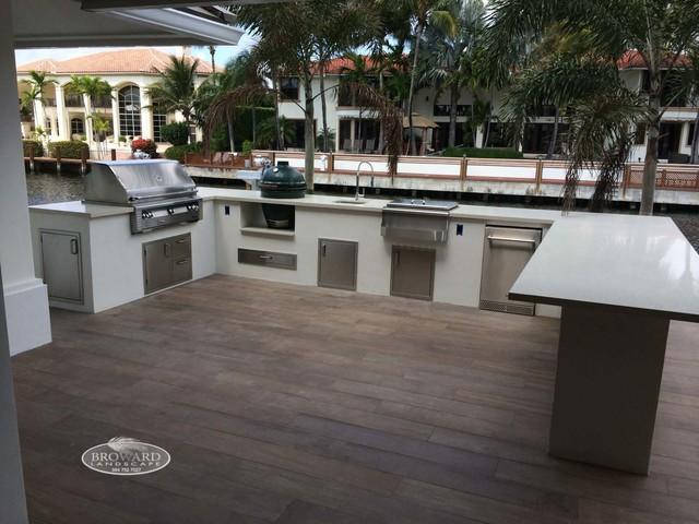 outdoor kitchen contemporary patio miami by