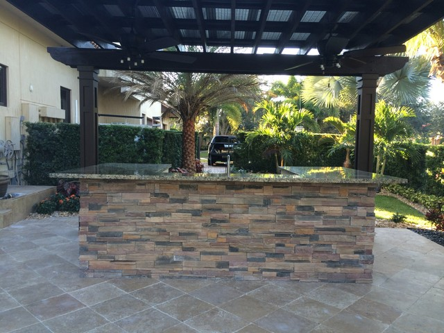 outdoor kitchen traditional patio miami by broward landscape