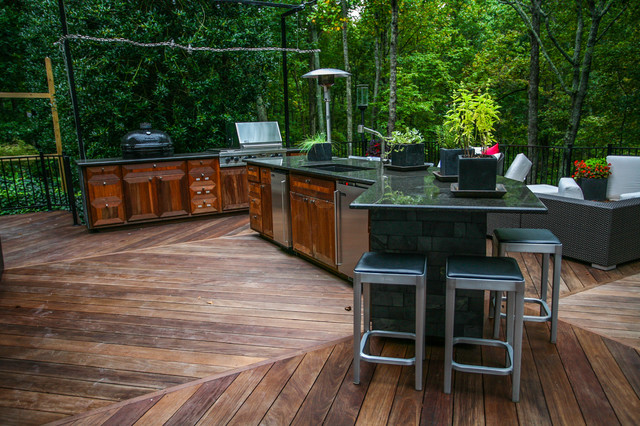 outdoor kitchen modern patio atlanta by cabinets